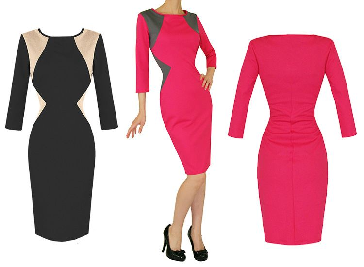 Slip Into Fashion With A Stretch Fitted Dress